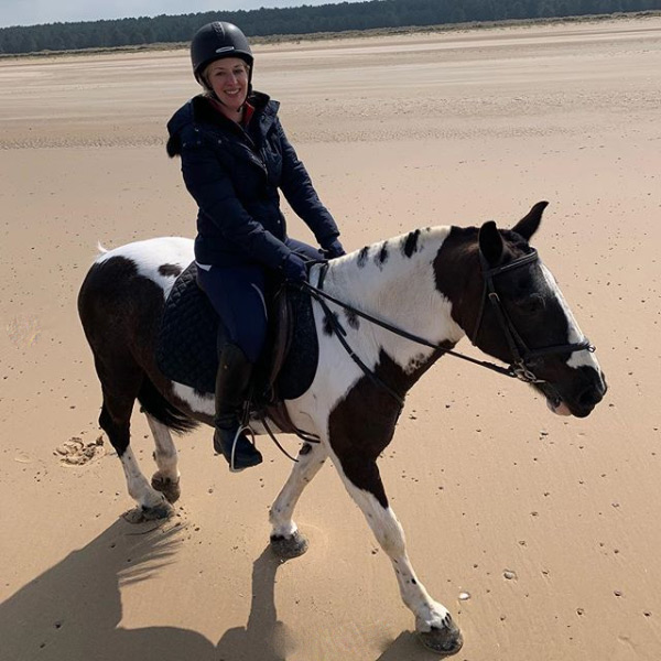 Picture of horse riding on Holkham Beach