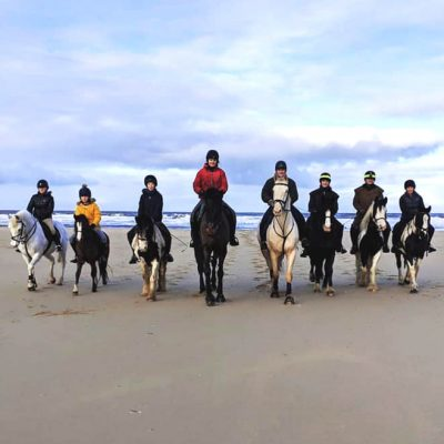 Beach ride at Holkam
