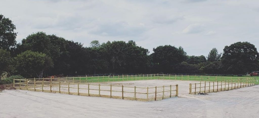 Piucture of 45x25m all-weather silica sand outdoor arena